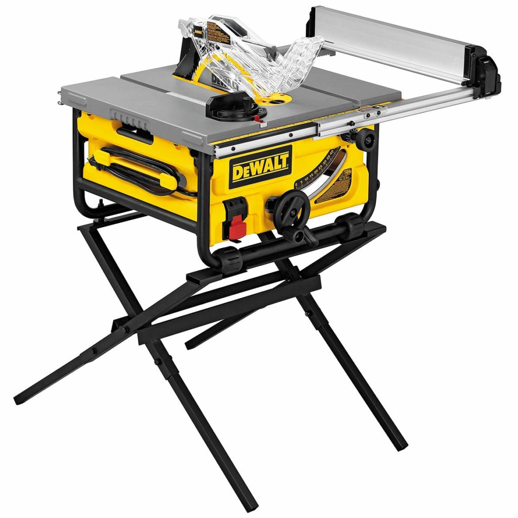 Dewalt Compact Job Site Table Saw with Folding Stand