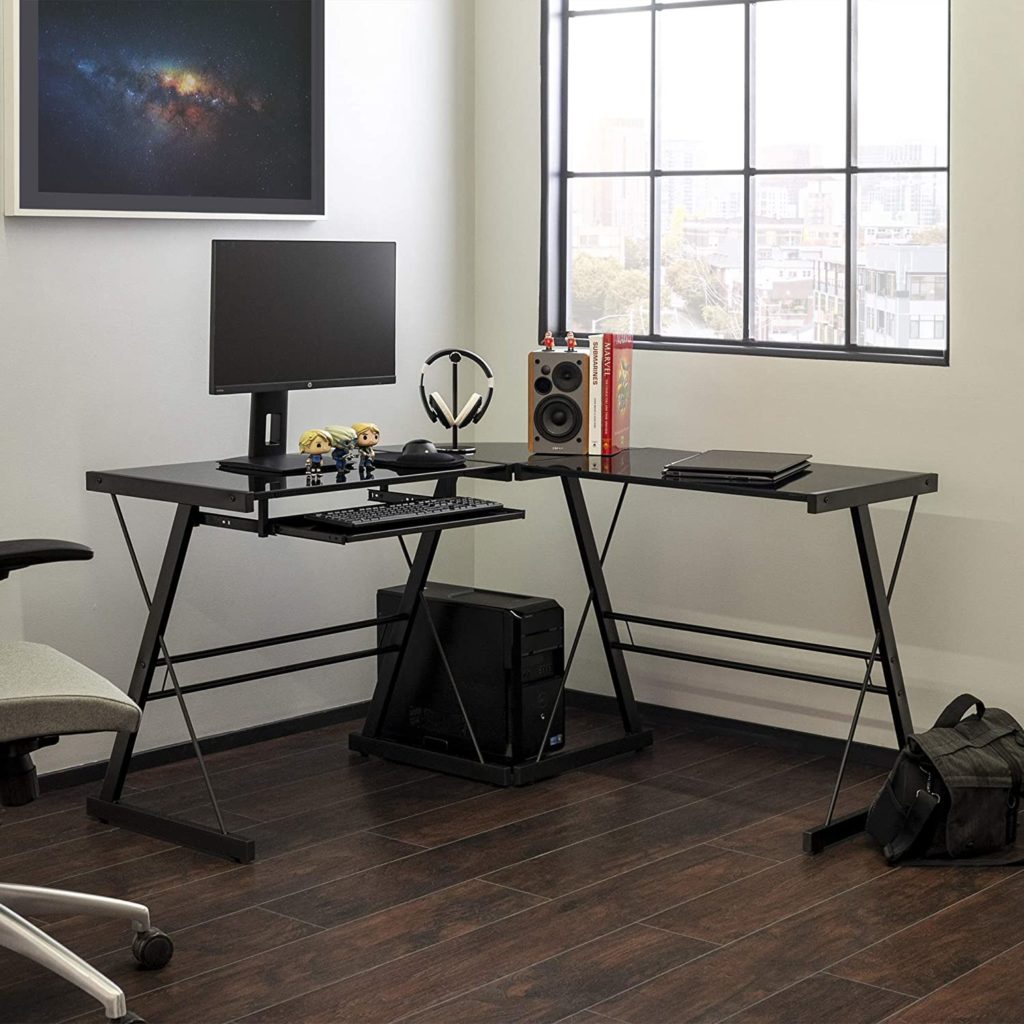 Walker Edison Furniture Company L Shaped Gaming Desk