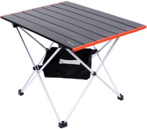Sportneer Camping Table with Aluminum Table Top